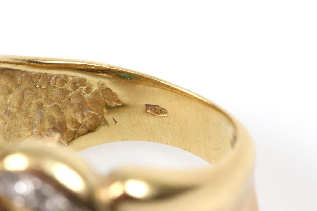Ring 14 Karat Gold Smaragd Brillant Goldring Schmuckring Edelsteine