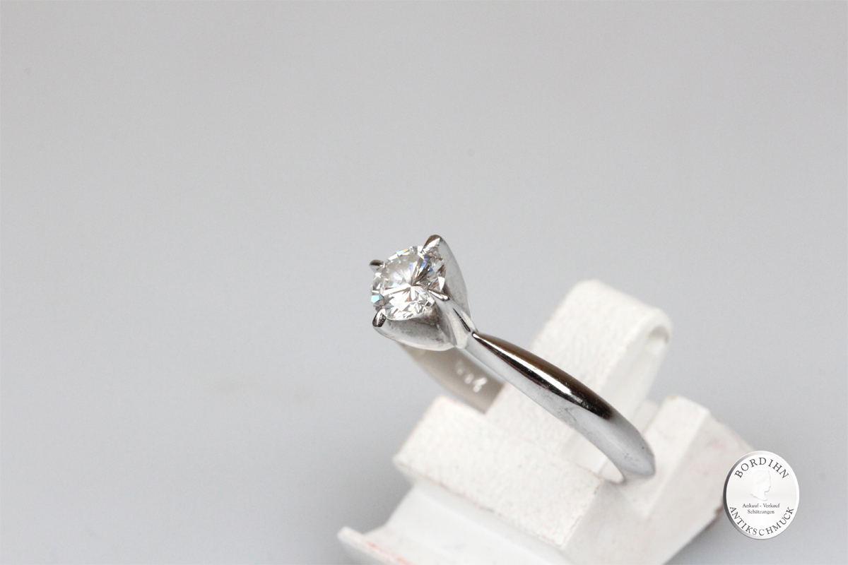 Ring 18 Karat Weißgold Gold Brillant Goldring Diamant Solitär Geschenk