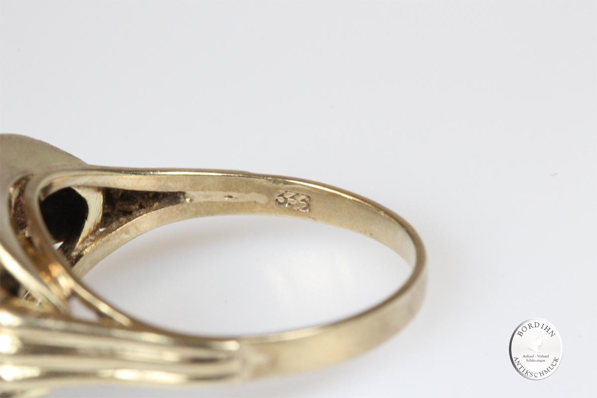 Ring 8 Karat Gold 8 Amethyst Edelsteine Goldring Schmuck Damen Geschenk