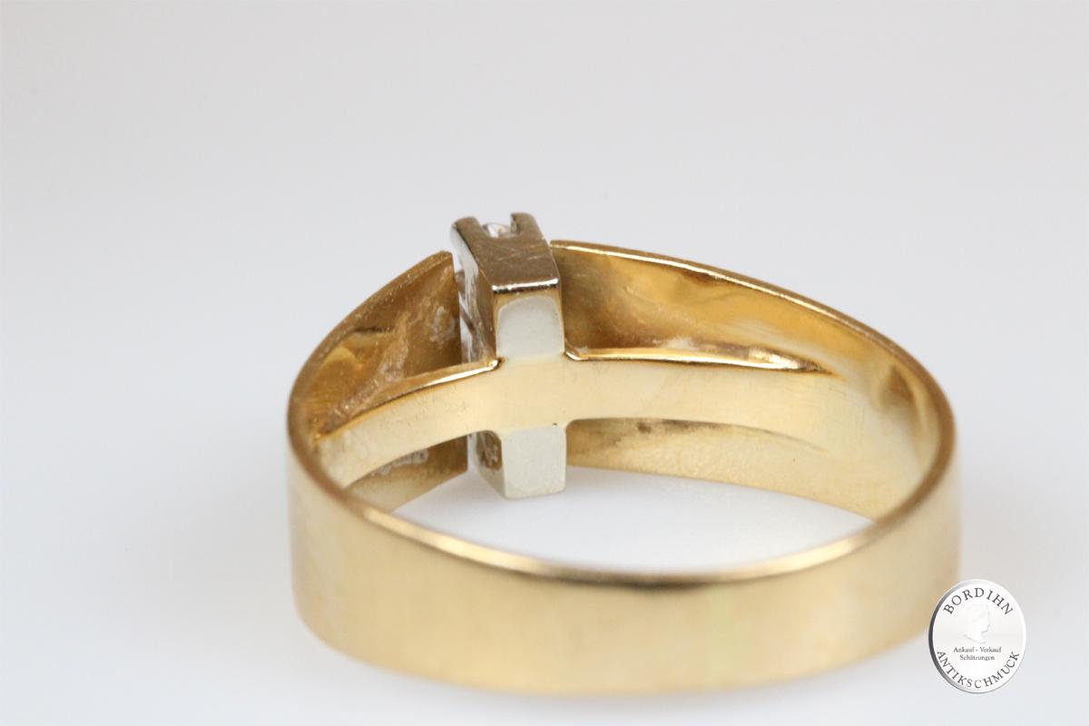 Ring 18 Karat Gold 3 Brillanten Goldring Diamanten Schmuck Damen Geschenk