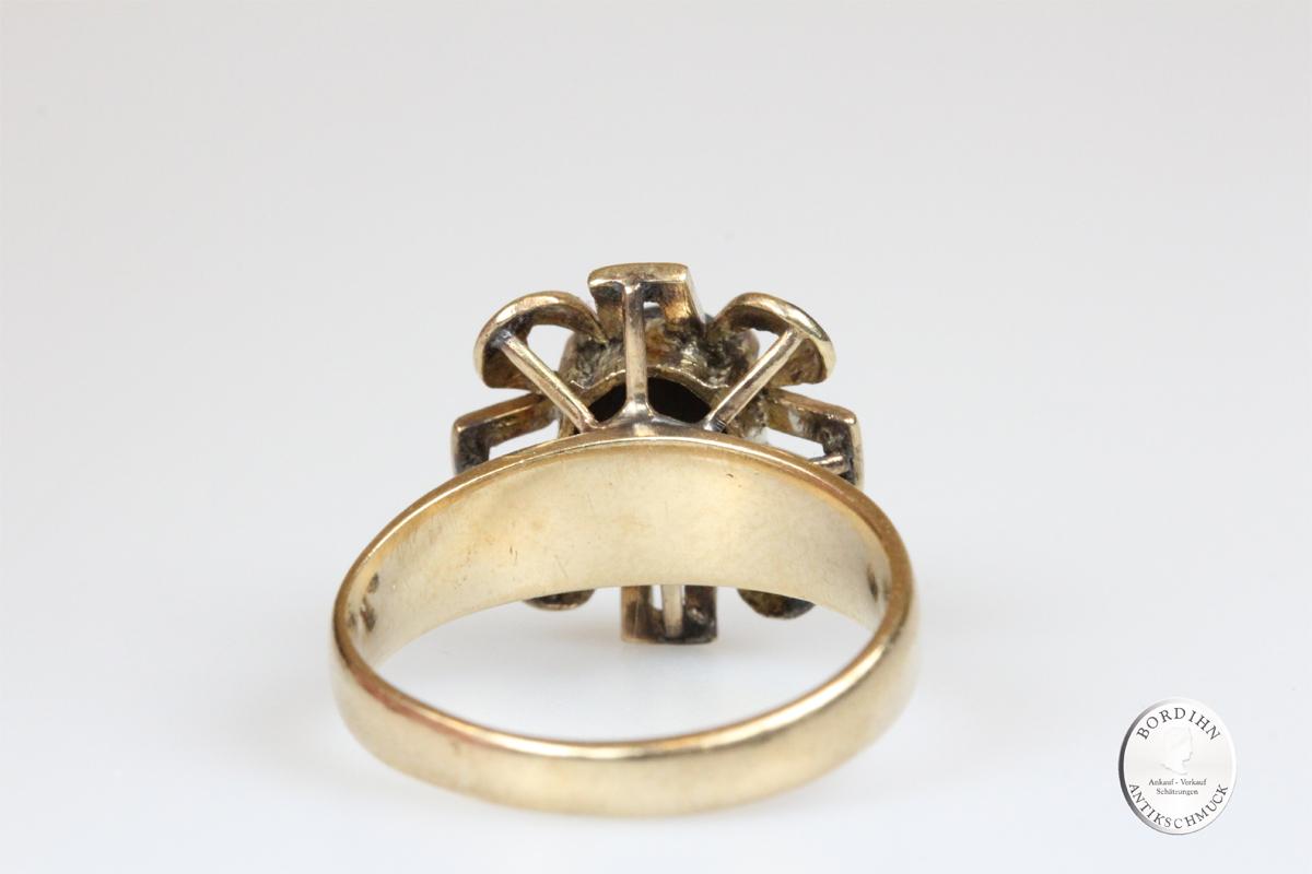 Ring 18 Karat Gold Katzenauge Goldring Schmuck Damen Geschenk