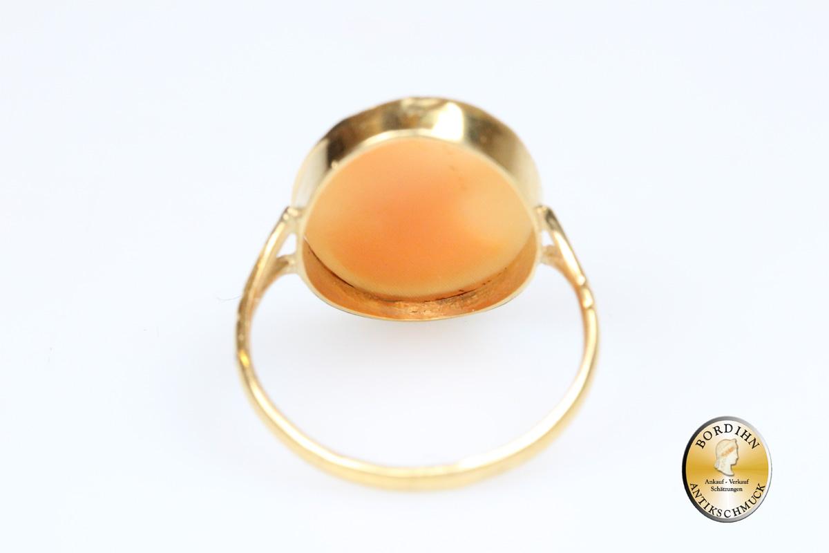 Ring; 18 Karat Gold, Gemme, antik
