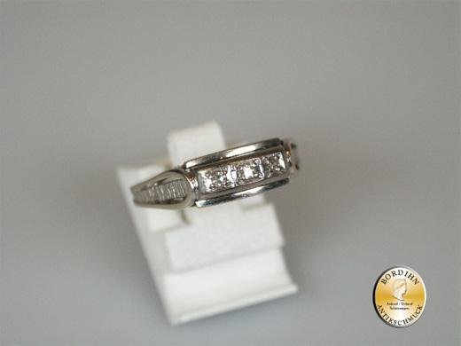 Ring 14 Karat Weissgold 3 Brillanten Goldring Bandring Schmuckstück