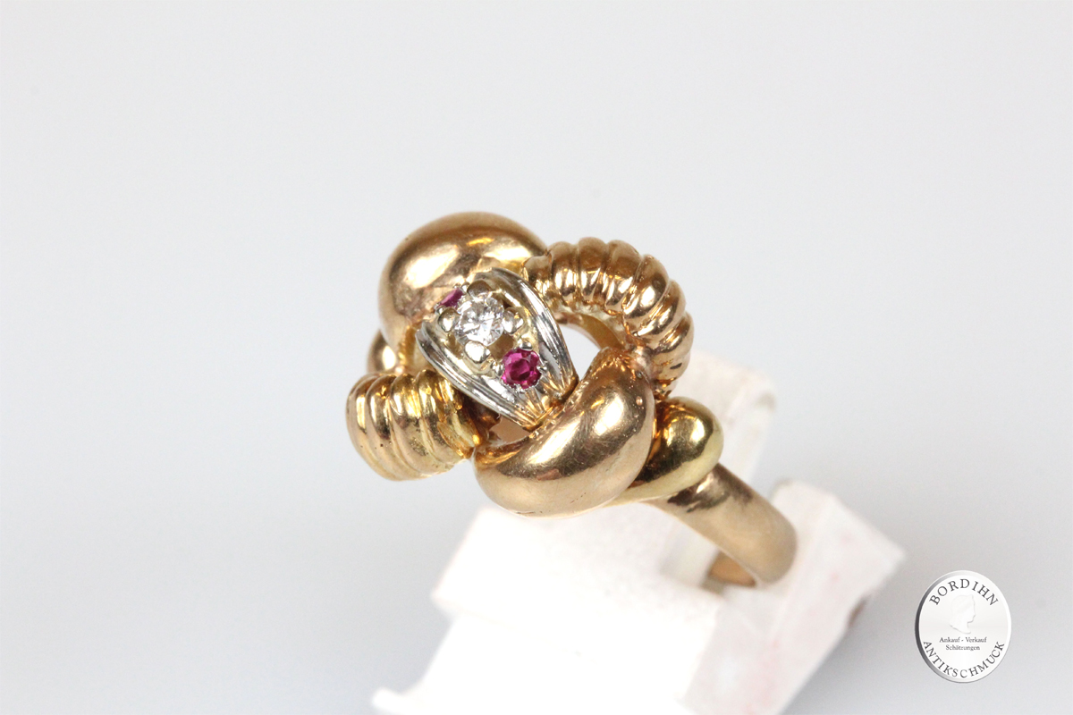 Ring 18 Karat Gold Brillant Rubine Goldring Edelsteine Schmuck Damen