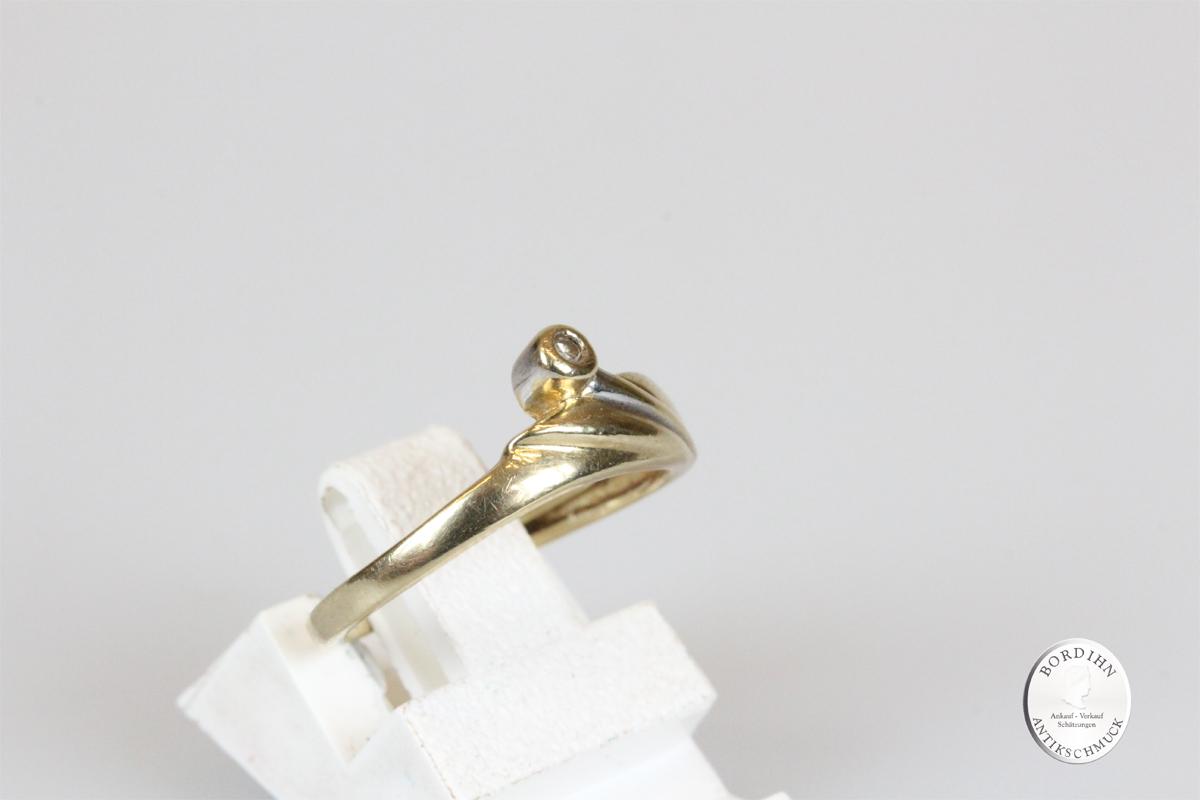 Ring 14 Karat Gold Brillant Goldring Schmuckring Diamant Geschenk