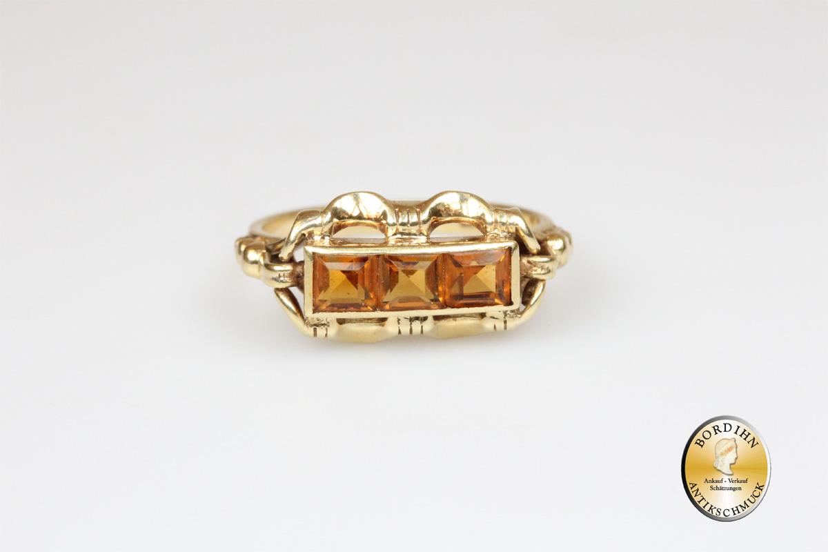 Ring 14 Karat Gold mit Topas Schmuckring Goldring Fingerring Geschenk