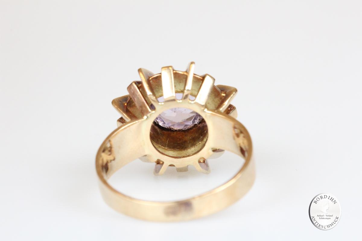 Ring 14 Karat Gold Gelbgold Amethyst Schmuck Damen Geschenk