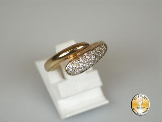 Ring 14 Karat Gold Diamant Schlange Diamantring Schlangenring Damen