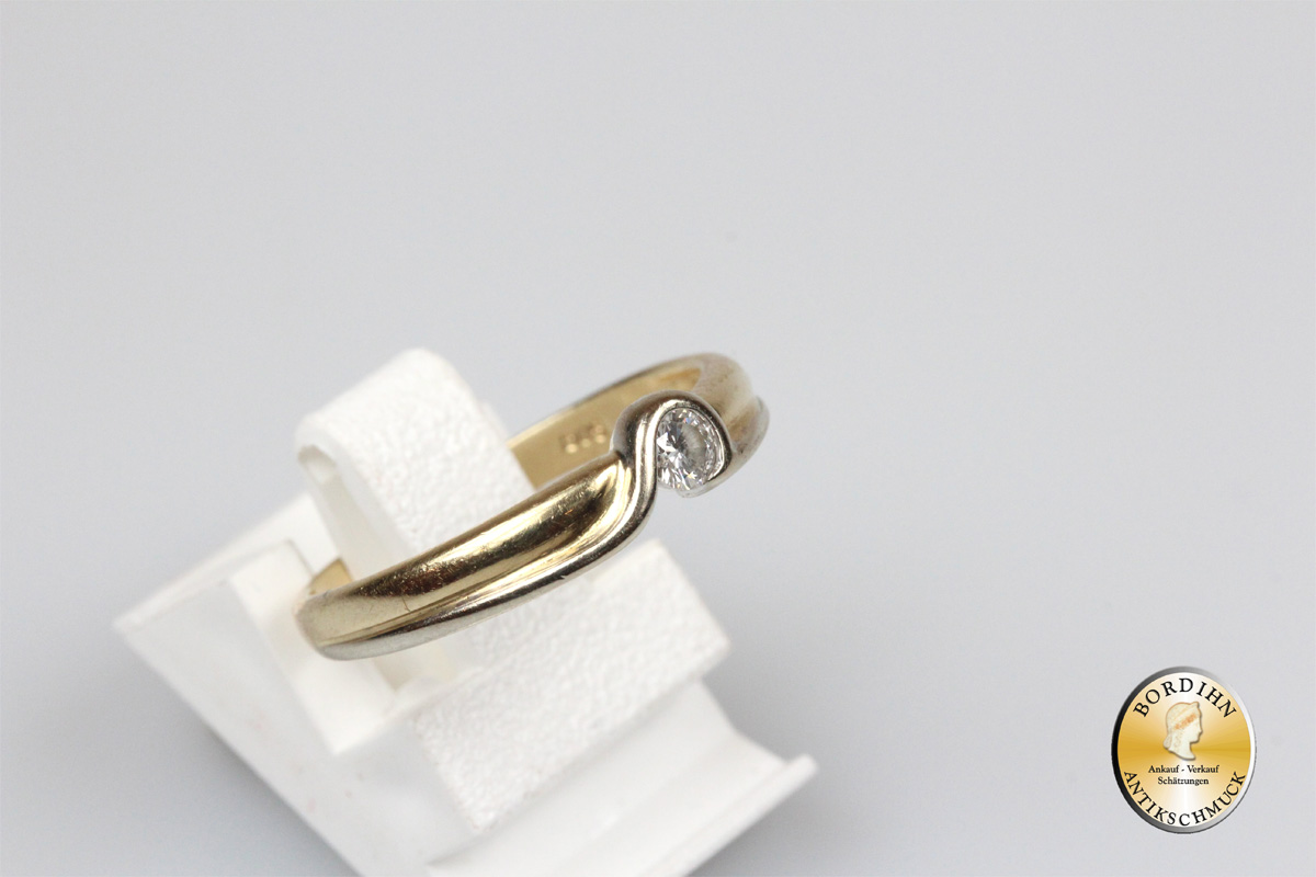 Ring 14 Karat Gold Diamant Fingerring Schmuckring Goldring Bandring