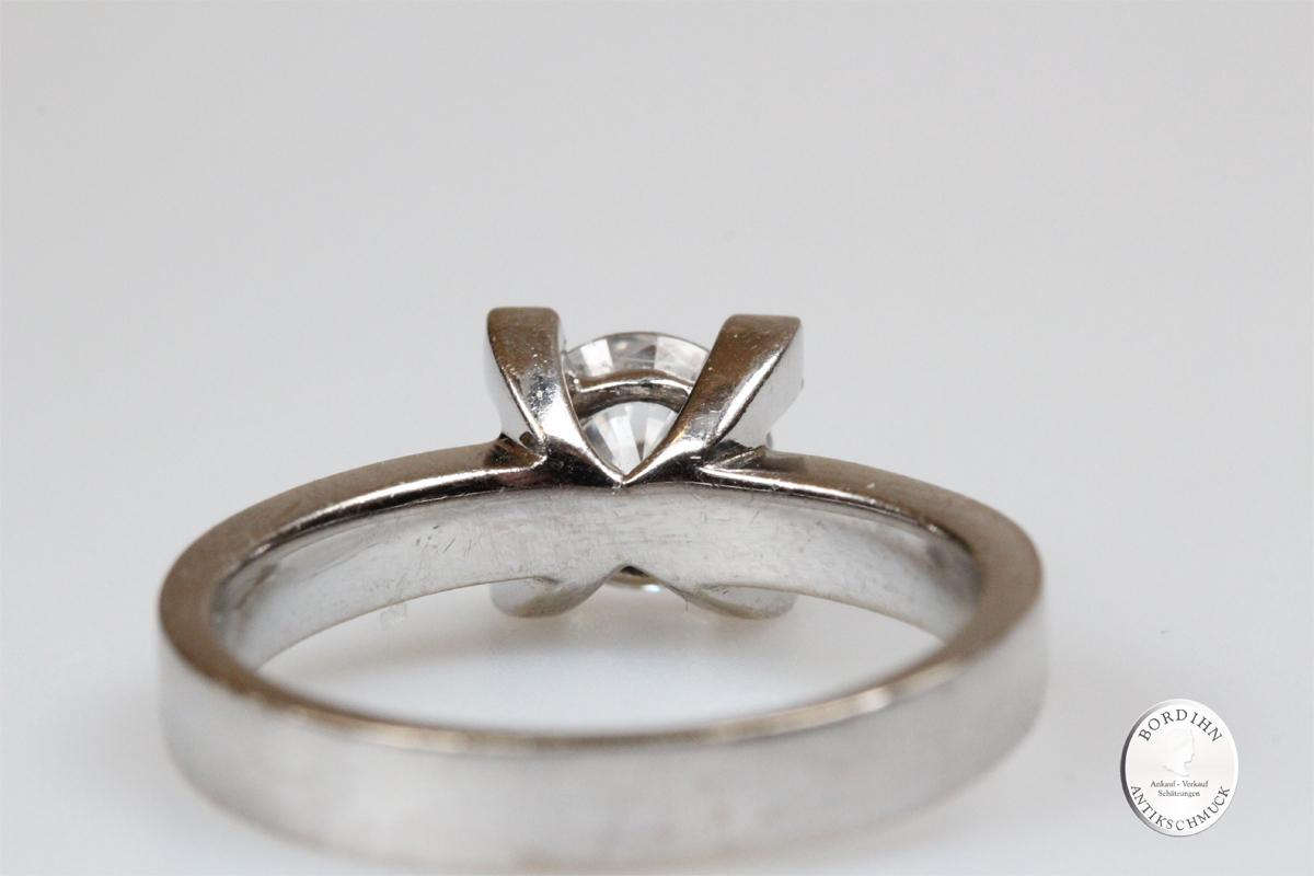 Ring 14 Karat Gold Weißgold Zirkonia Fingerring Goldring Schmuckring