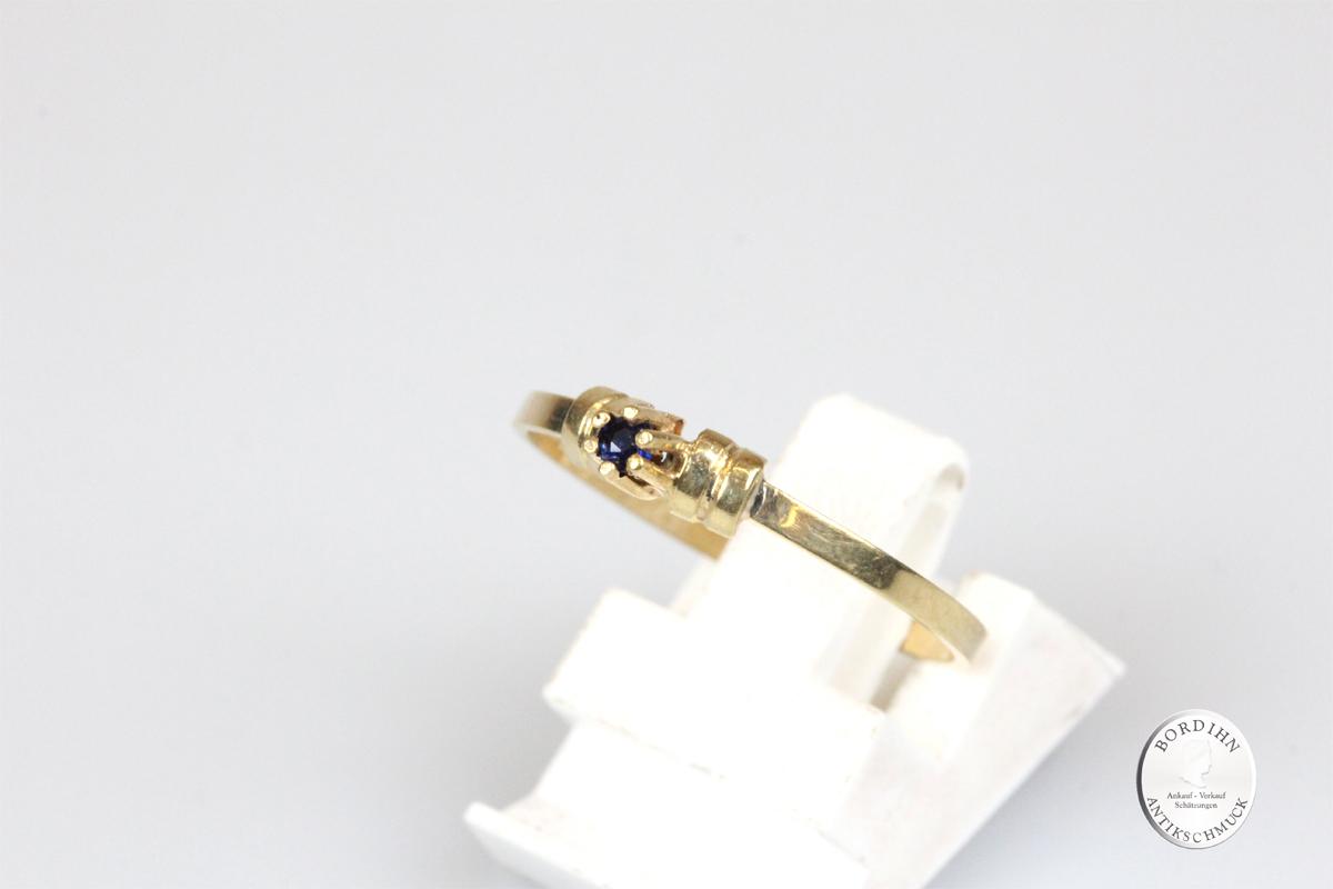 Ring 14 Karat Gold Saphir Goldring Schmuck Damen Geschenk