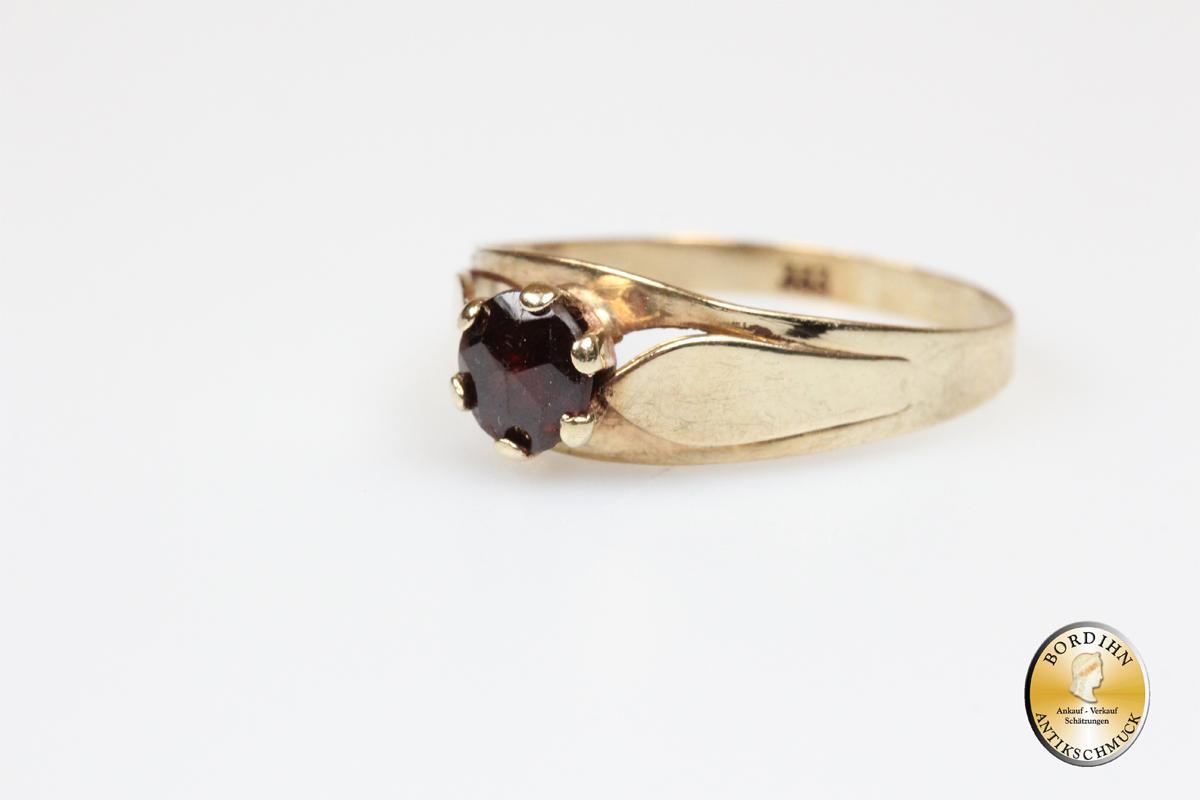 Ring Granat 8 Karat Gold Granatring Goldring Damenring Geschenk