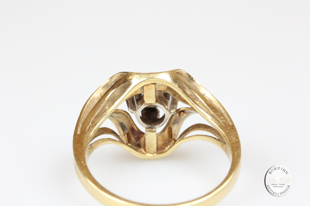 Ring 14 Karat Gold Brillant Brillantring Fingerring Damenring Schmuck