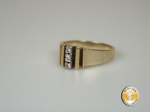 Ring 14 Karat Gold 3 Brillanten Goldring Schmuck Damenring Geschenk
