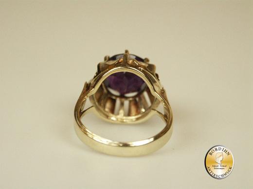 Ring; 14 Karat Gold, Amethyst