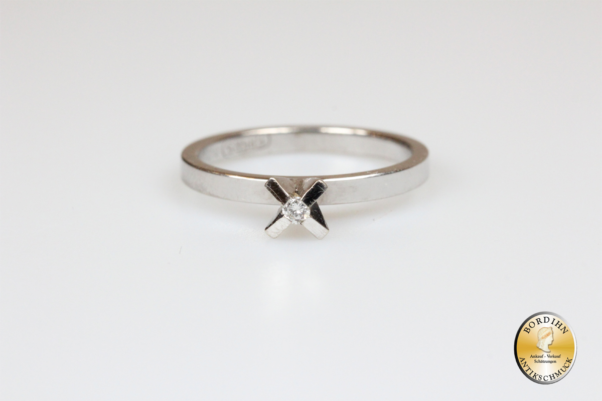 Ring 14 Karat Gold Brillant Weissgold Brillantring Goldring Damenring