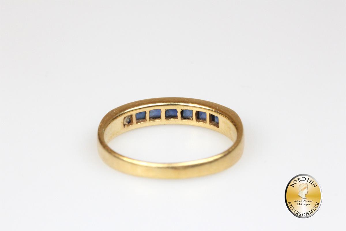 Ring 18 Karat Gold Saphire Bandring Goldring Schmuck Edelsteine Damen