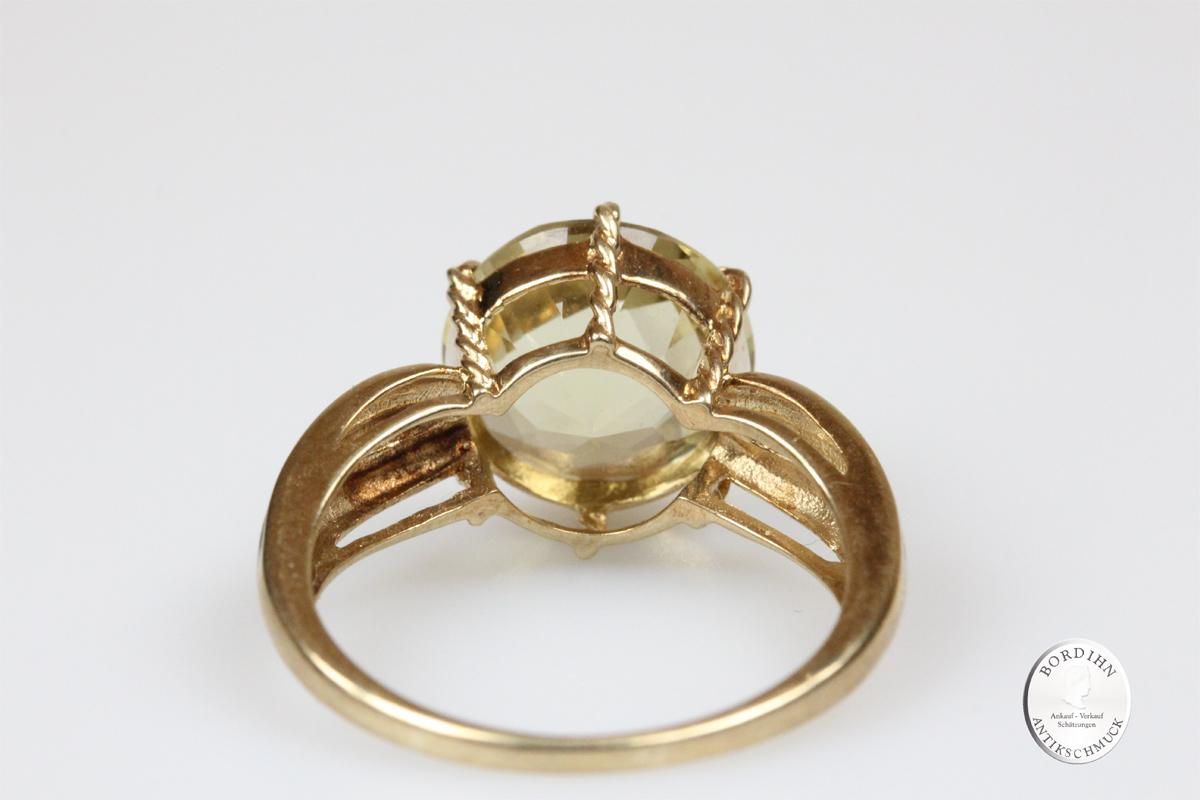 Ring 9 Karat Gold Skapolith Edelstein Schmuckring Fingerring Geschenk