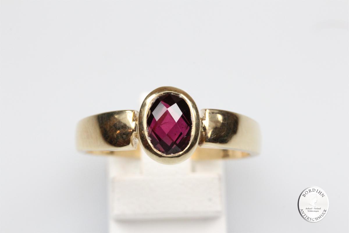 Ring 9 Karat Gold Granat Goldring Schmuckring Fingerring Geschenk