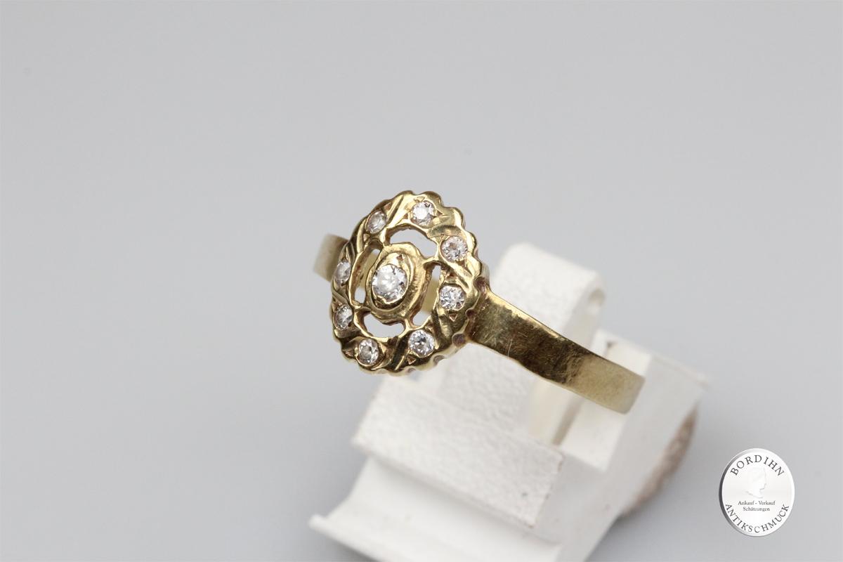 Ring 14 Karat Gold Farbsteine Damenring Schmuckring Goldring Schmuck