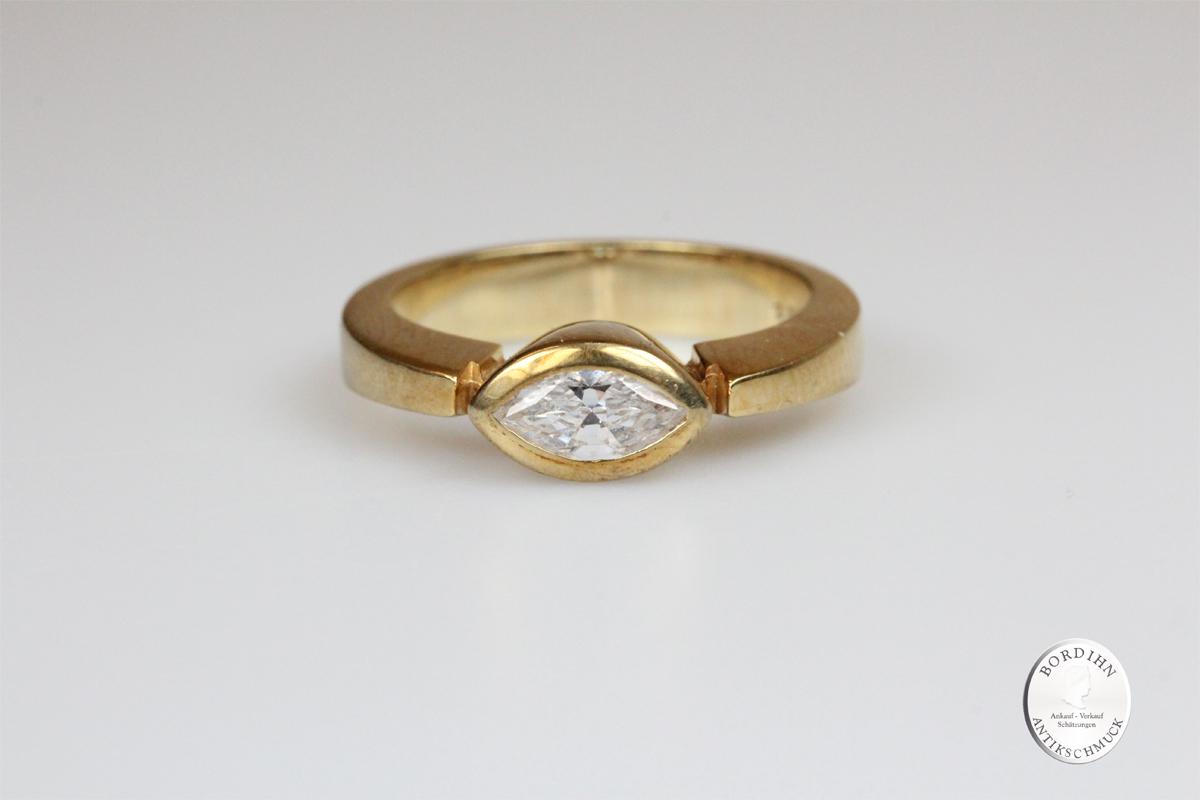 Ring 9 Karat Gold mit Farbstein Schmuckring Fingerring Damen Geschenk