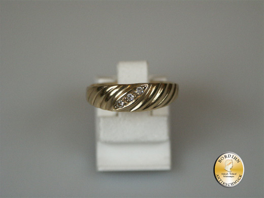 Ring 8 Karat Gold Bandring Zirkonia Schmuckring Goldring Fingerring