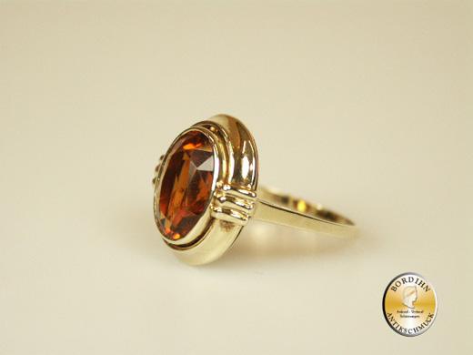 Ring; 14 Karat Gold, Citrin