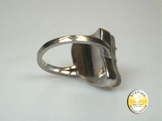 Ring 18 Karat Weissgold Brillant Smaragd Rubin Gold Schmuckring Damen