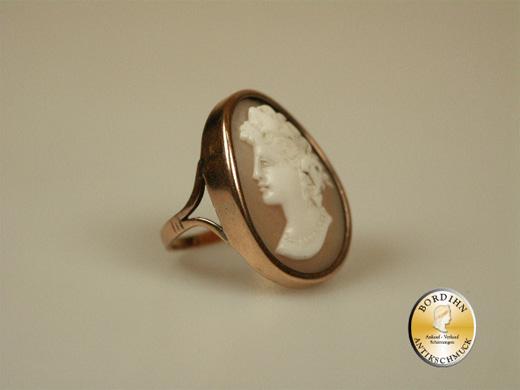 Ring 14 Karat Gold Handgeschnitten Gemme Gemmenring Goldring antik