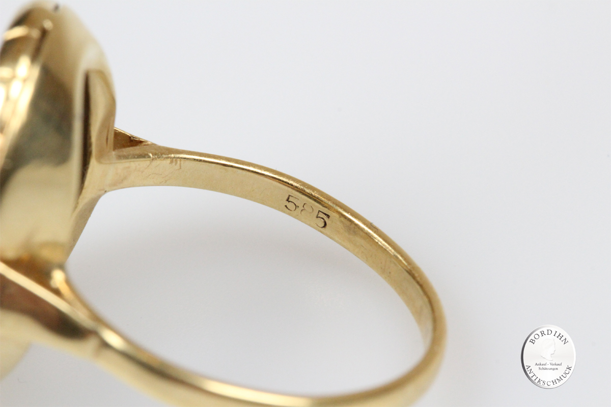 Ring 14 Karat Gold Blautopas Topas Fingerring Schmuckring Geschenk