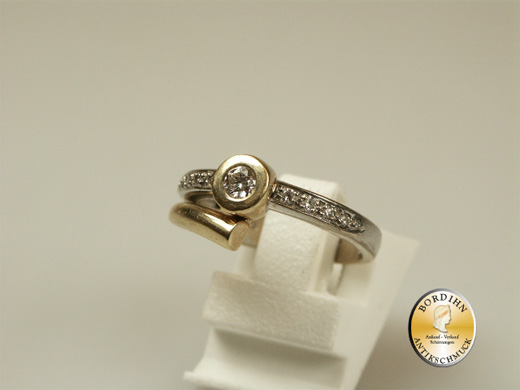 Ring Damenring 14 Karat Gold Brillanten Brillantring Schmuck Frauen