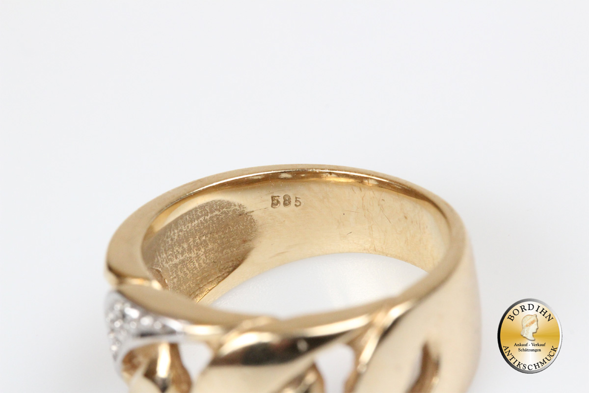 Ring 14 Karat Gold Diamanten Bandring Goldring Schmuck Damen Geschenk
