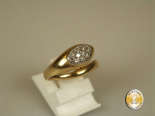 Ring 14 Karat Gold mit Diamanten Schlange Damenring Schmuck Geschenk