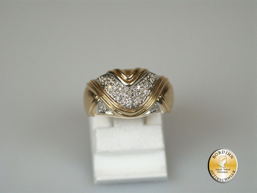Ring 14 Karat Gold Brillantsplitter Brillantring Fingerring Damen