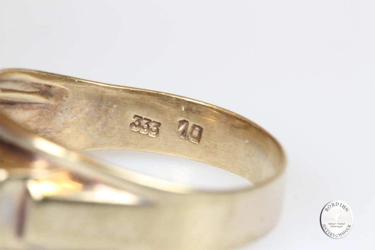 Ring 8 Karat Gold 3 Brillanten Goldring Schmuckring Diamanten Geschenk