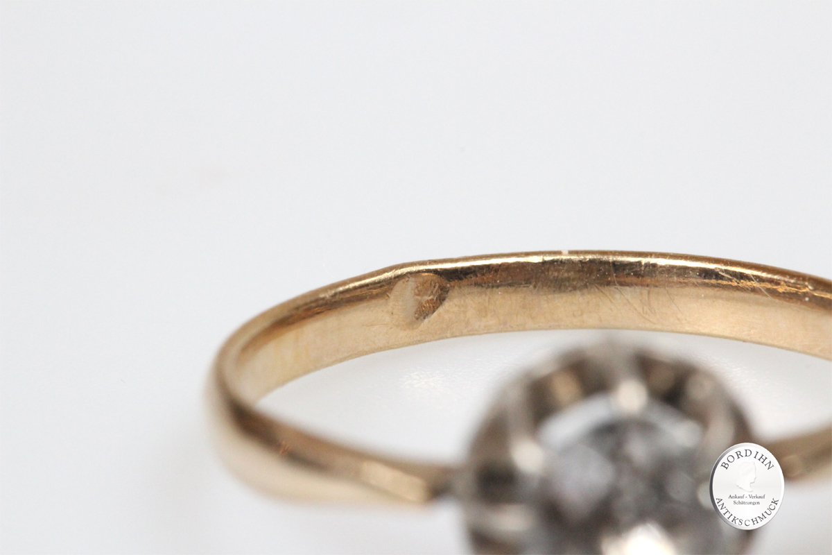 Ring 8 Karat Gold Bergkristall Damenring Goldschmuck Damen Geschenk