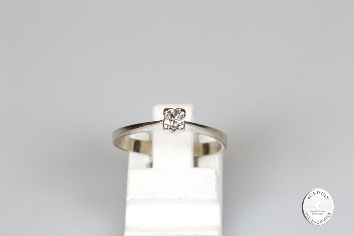 Ring 14 Karat Gold Brillant Weißgold Schmuckring Goldring Damen Geschenk