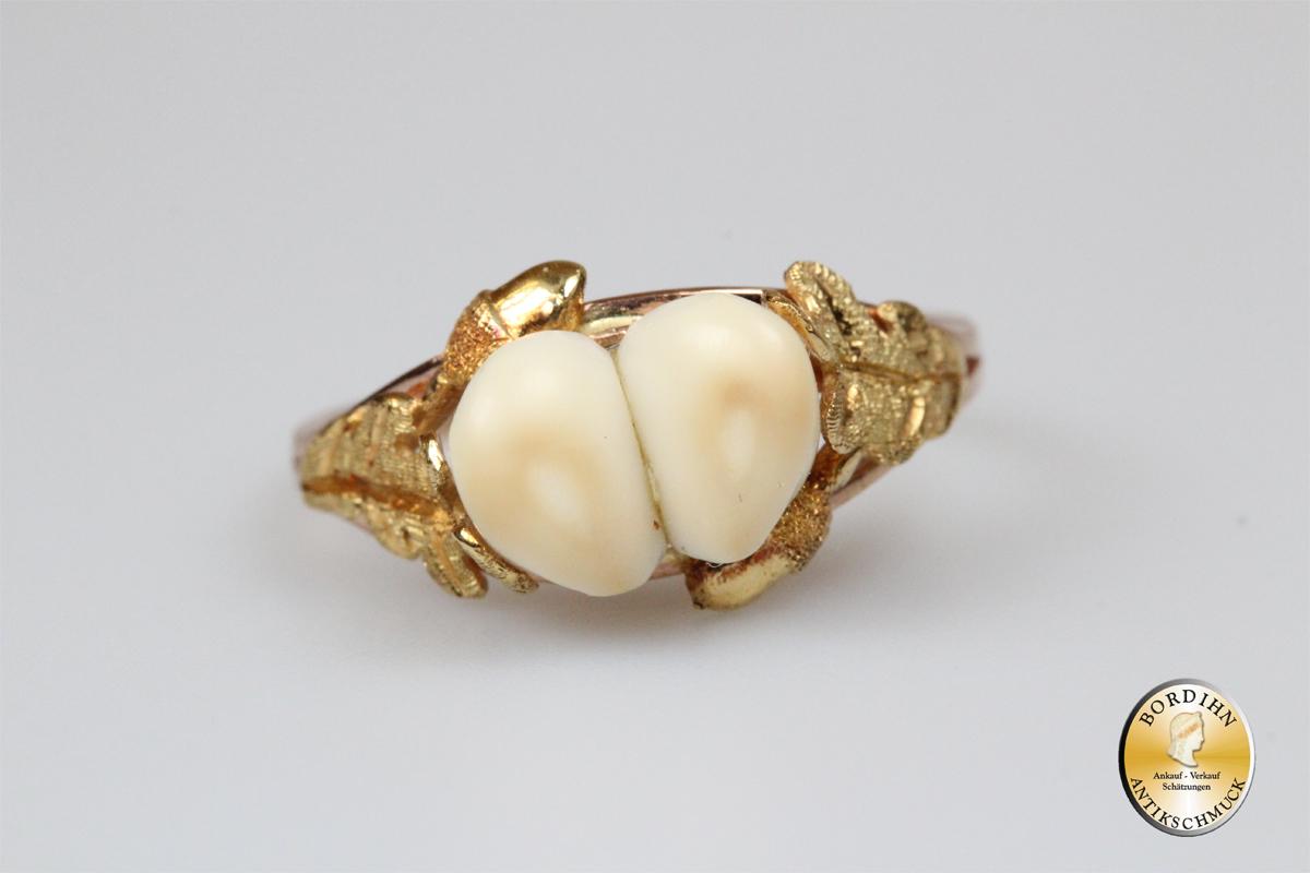 Gold Ring Grandel 14 Karat Gold Tracht Jagdschmuck Bayrisch Geschenk