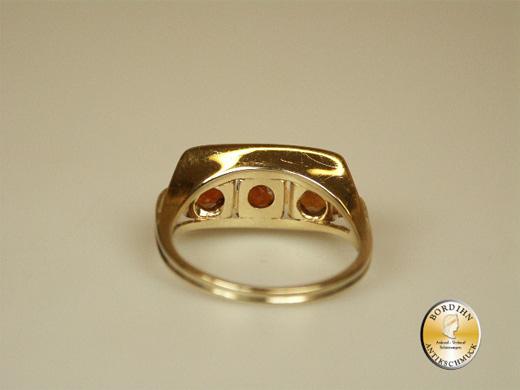 Ring 14 Karat Gold 3 mal Citrin Goldring Schmuckring Damen Geschenk
