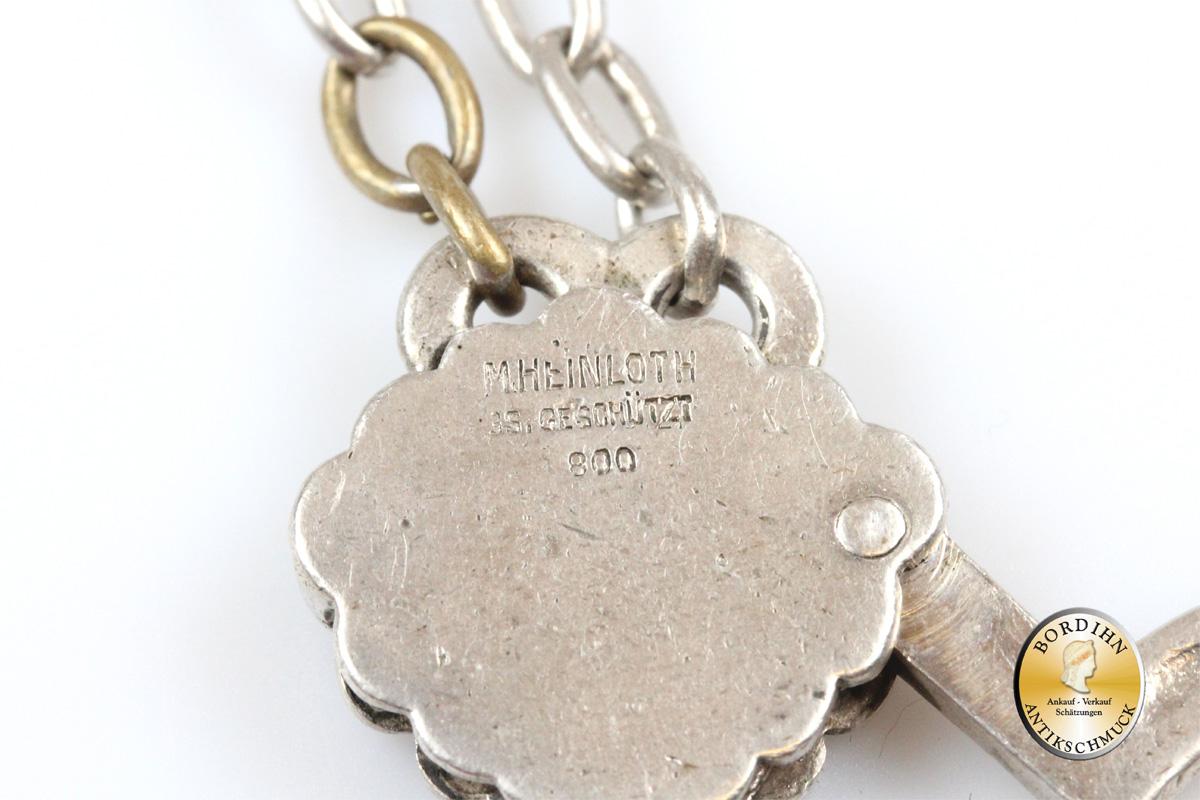 Rockstecker; Beschließerring in Silber mit Türkise, Tracht, antik