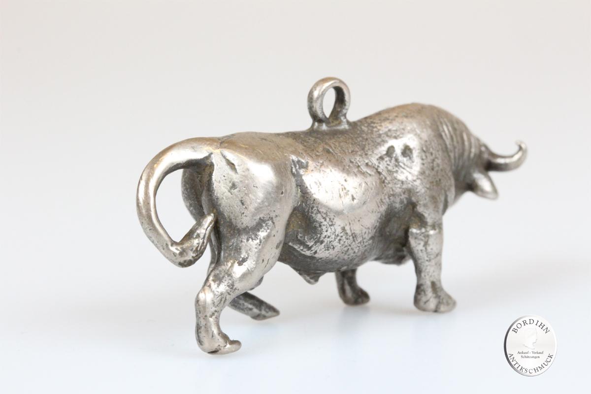 Anhänger Stier 800 Silber Schmuck Figur für Bauchkette Schariwari Geschenk