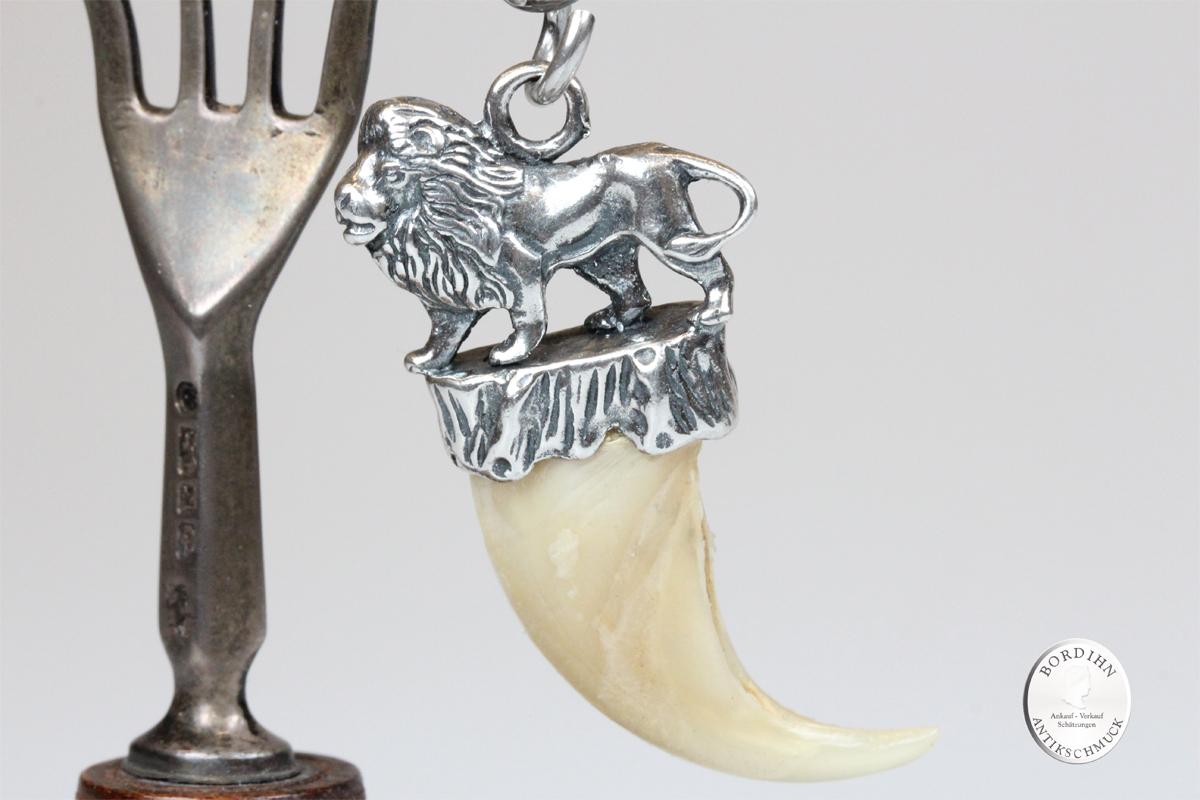 Anhänger 835 Silber Löwenkralle Trophäe Schariwari Tracht Oktoberfest