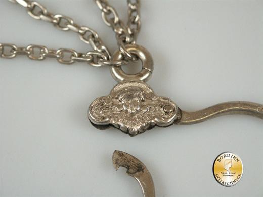 Rockstecker; 800 Silber, Beschliesserring, Tracht, um 1920