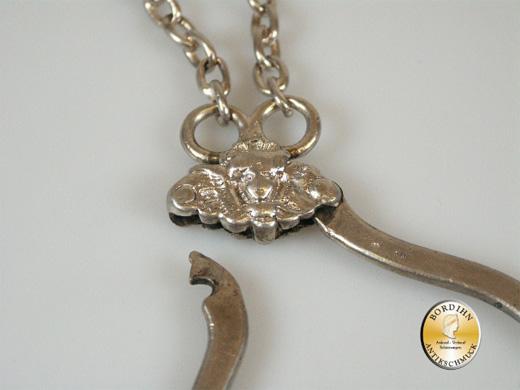 Rockstecker; 800 Silber, Beschließerring, Tracht, um 1800