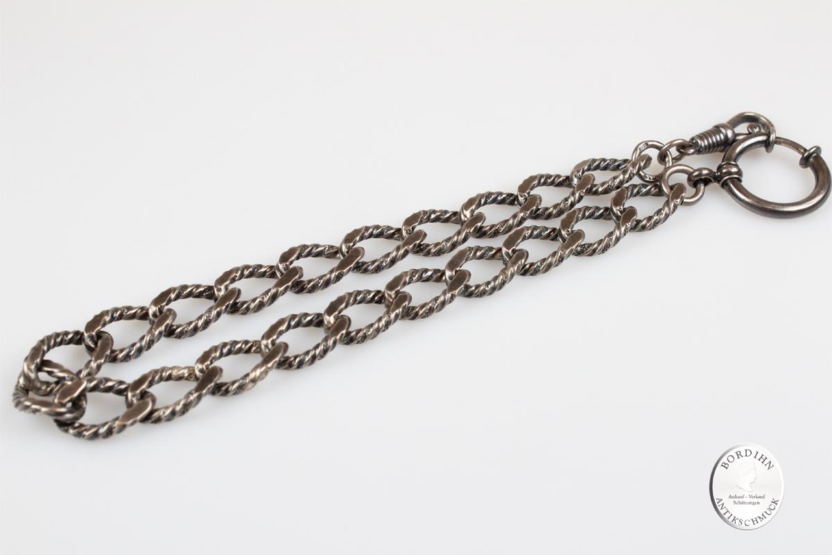 Uhrkette Silber Silberkette für Taschenuhren Bauchkette Herren