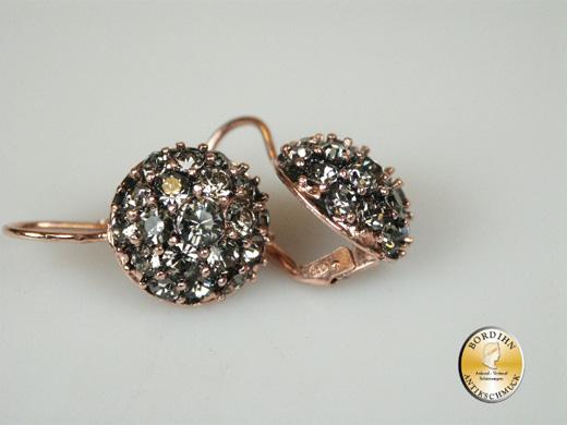 Ohrhänger Silber vergoldet Strass Ohrring Ohrschmuck Damen Geschenk
