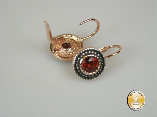 Ohrhänger Silber vergoldet Granat Ohrringe Ohrschmuck Damen Geschenk