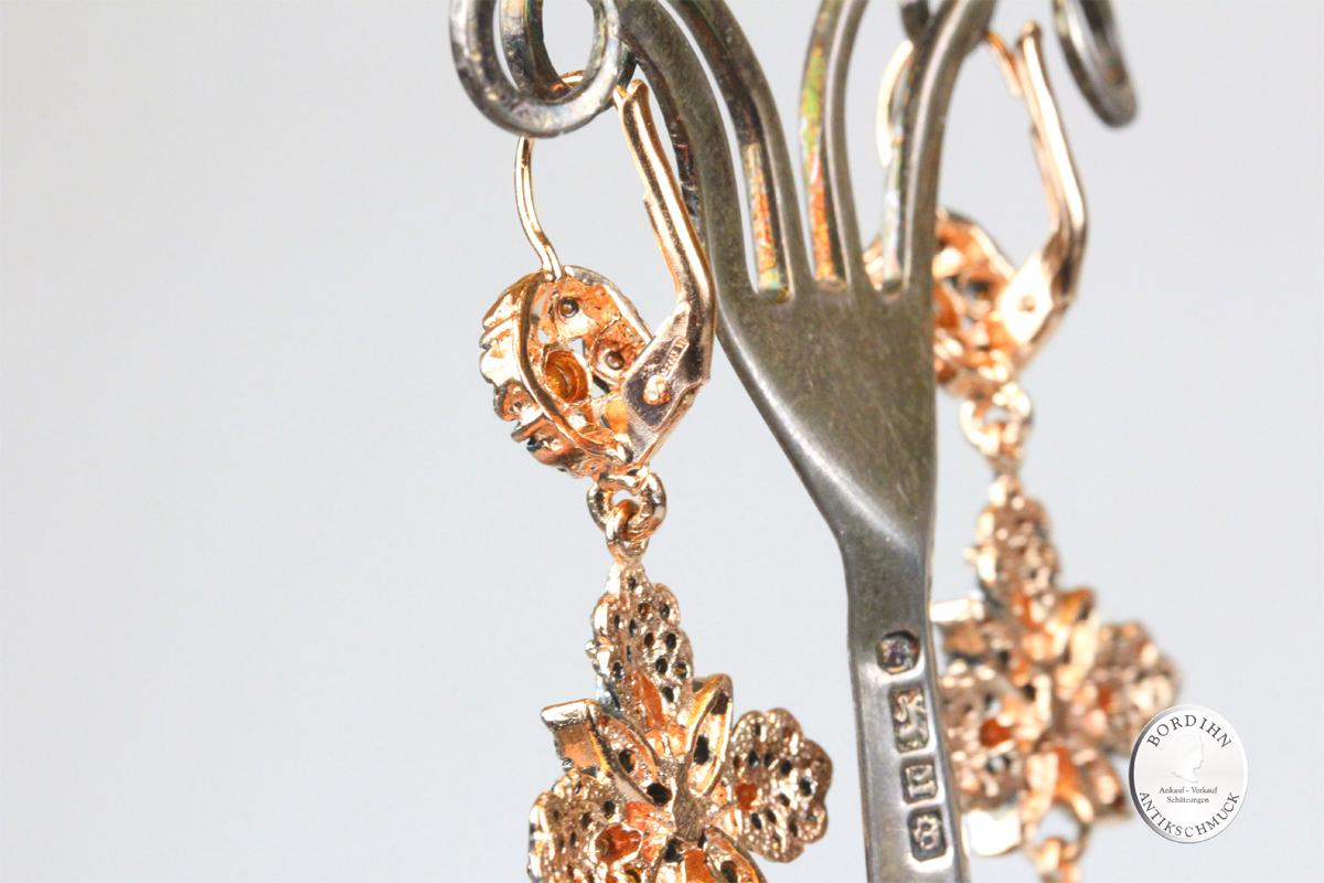 Ohrringe 925 Silber verg. Strass Flusswasserperlen Ohrhänger Schmuck