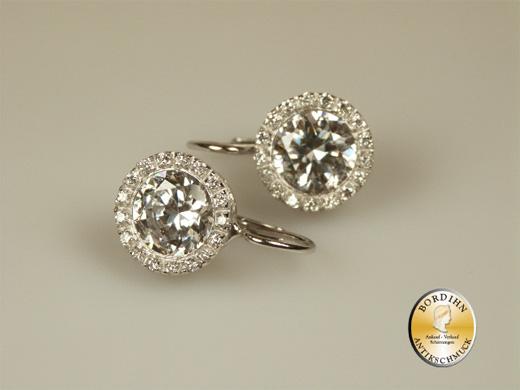 Ohrring 925 Silber mit Zirkonia Ohrhänger Ohrschmuck Damen Geschenk