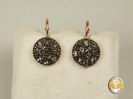 Ohrhänger Silber vergoldet mit Strass Ohrring Ohrschmuck Damen Schmuck
